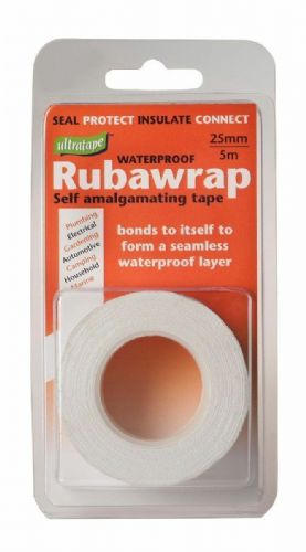 Ultratape Rubawrap Waterproof Selfamalgamating Tape 5m. x 25mm White